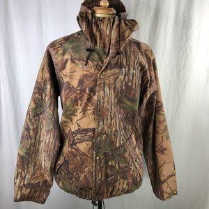 Cabelas Realtree Dry Plus Hooded Jacket Mens L